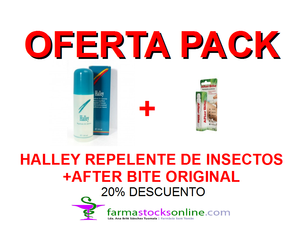Pack Oferta Halley Repelente de Insectos + After Bite Original