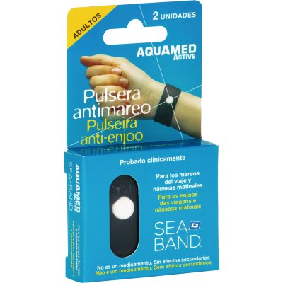 Aquamed Pulsera Antimareo Adultos 2 unidades