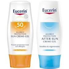 Eucerin Fotoprotector SPF 50 Sun Allergy Protection Gel-Crema 150 ml + AFTERSUN DE REGALO  200 ml DE REGALO