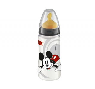 Nuk Biberón T-1 Látex Mickey Mouse First Choice 300 ml